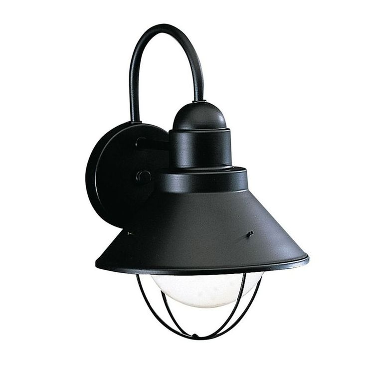 Kichler Lighting Kichler 12-Inch Nautical Outdoor Wall Light with LED Bulb 9022BK  10W LED