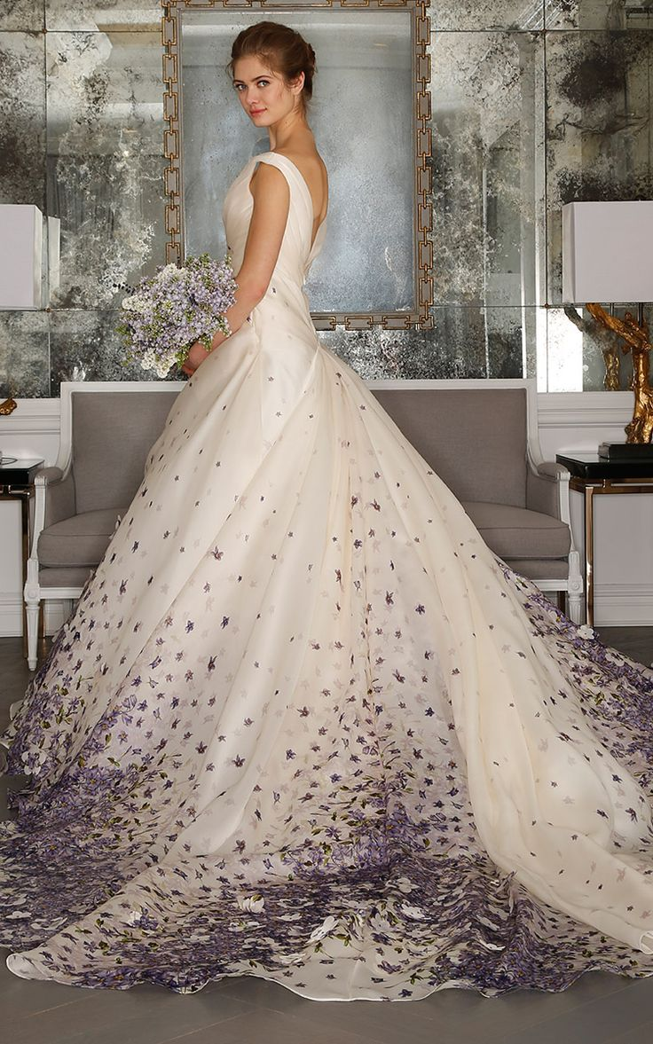 M'O Bridal & Wedding: French Violet Ball Gown from Romona Keveza Bridal SS17 trunkshow