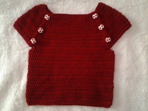 Jersey verano bebe a crochet #muy fácil #tutorial #DIY - YouTube
