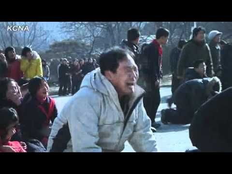North Koreans weeping hysterically over the death of Kim Jong-il taken from DPRK state-sponsored television broadcast.