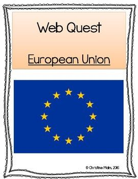 This is a WebQuest for the Official European Union website. Students will use any technology available with Internet and navigate the European Union website to find the missing information. The WebQuest gives an overview of the European Union including some dates and country members, money in the European Union, and a larger portion on the history of the European Union from its creation to today.The questions go in order on the WebQuest as the students see it online.
