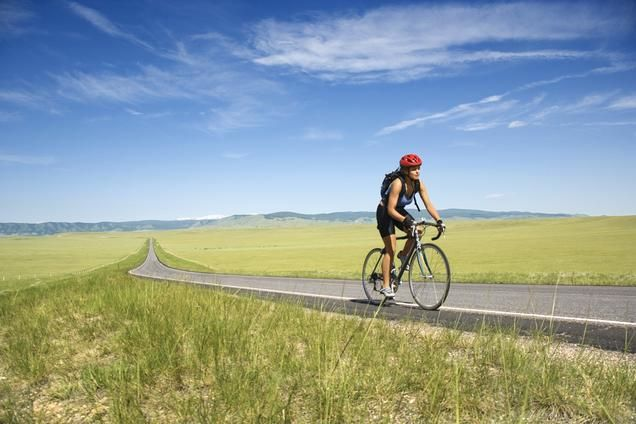 Fitness on a bike is all about getting into a steady rhythm. You need to consistently pedal, rather than pedal-coast, pedal-coast.