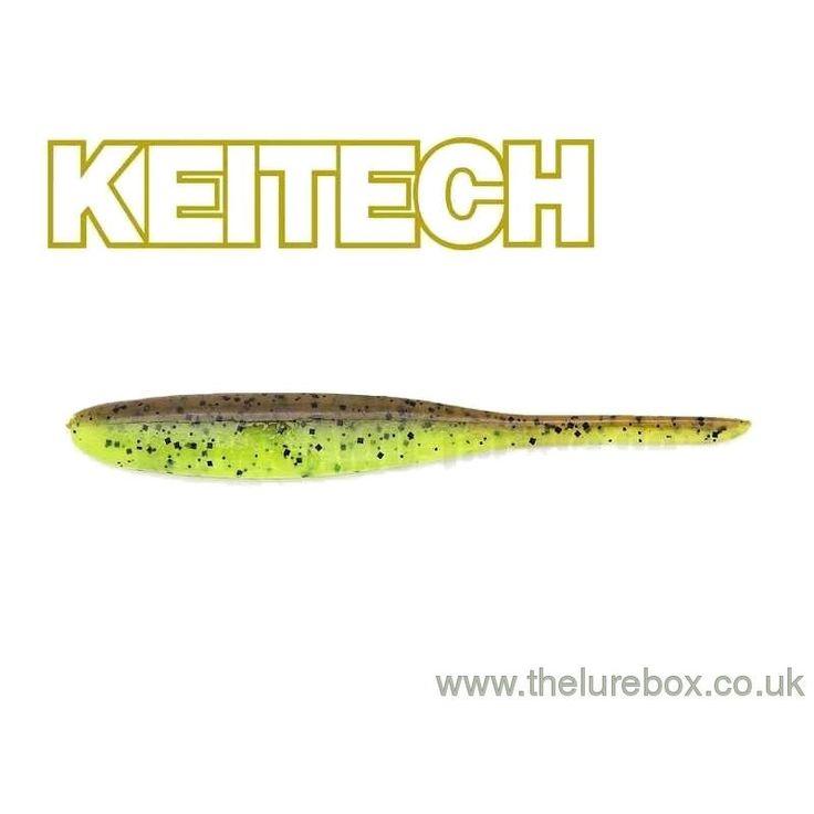 "Keitech Shad Impact 3"" Green Pumpkin/Chartreuse"