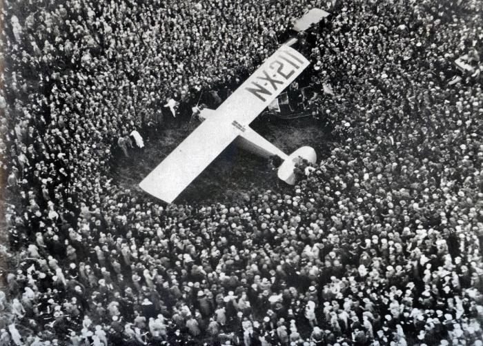 Lindberg Lands in Paris, 1927