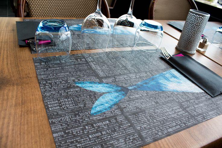 Nos sets de table sont à l'image du restaurant (entre terre et mer) ! #restaurant #food #fishing
