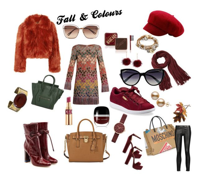 """Fall & Colours"" by love2live-dk on Polyvore featuring Maison Margiela, Missoni, Steve Madden, Malone Souliers, Puma, Chloé, La Perla, Moschino, MICHAEL Michael Kors and CÉLINE"