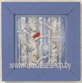 Зимние деревья. Вышивка / Embroidery. Набор для вышивки крестиком и бисером Mill Hill. Рождество, Новый год.