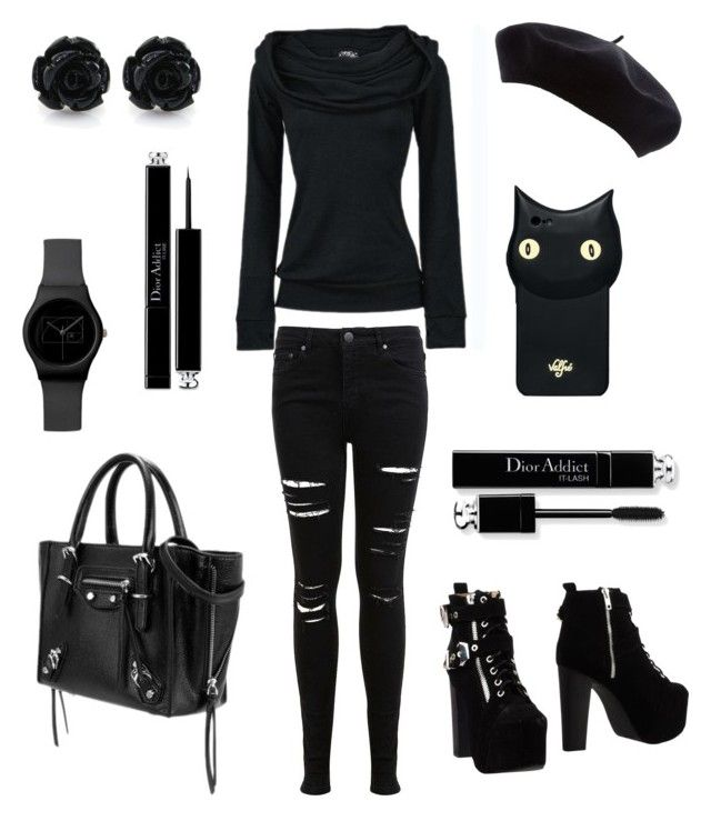"""Black Friday"" by thestrawberrytales on Polyvore featuring Miss Selfridge, Jeffrey Campbell, Valfré and Christian Dior"