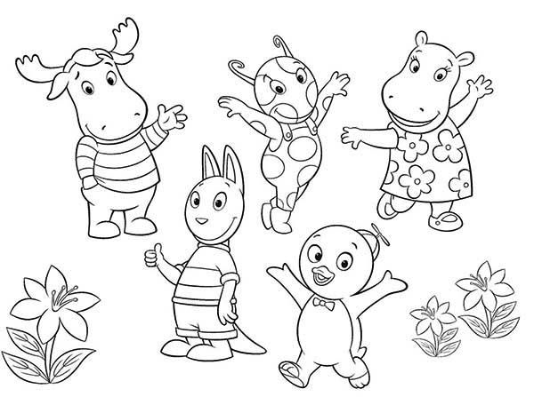 The Backyardigans All Characters Coloring Page : Kids Play