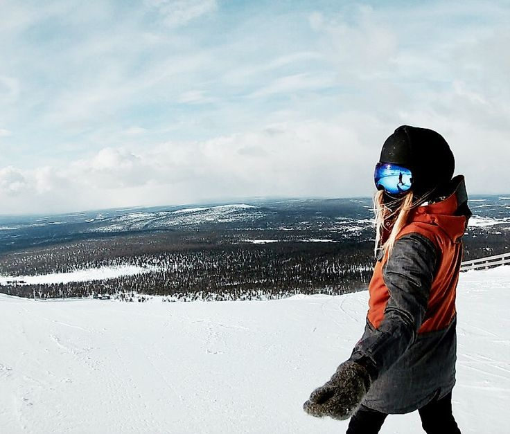Snowboarding in Finland