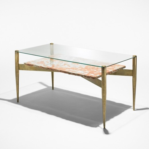 Gio Ponti Brass Marble And Protex Glass Coffee Table Find This Pin More On Mid Century Modern Furniture