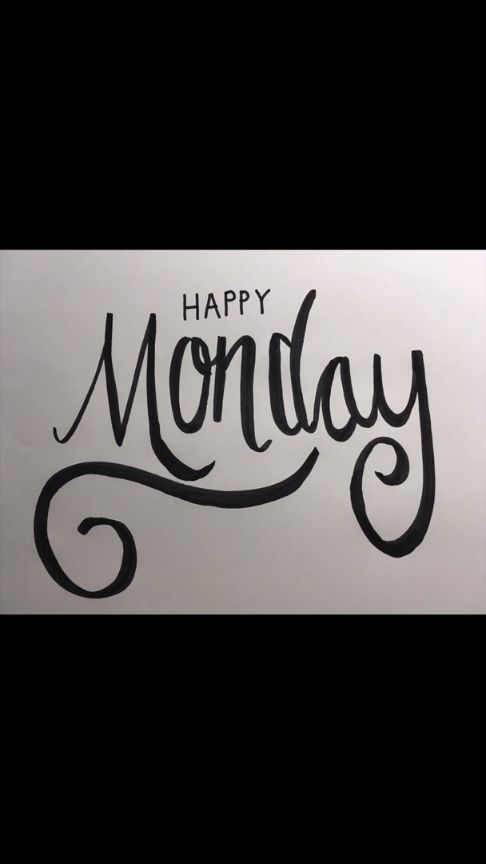 Happy Monday Hand Lettering | DIY Inspiration | Hand ...