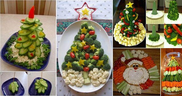 Unique Vegetable Platter with Veggie Christmas Tree | IKEA Decoration