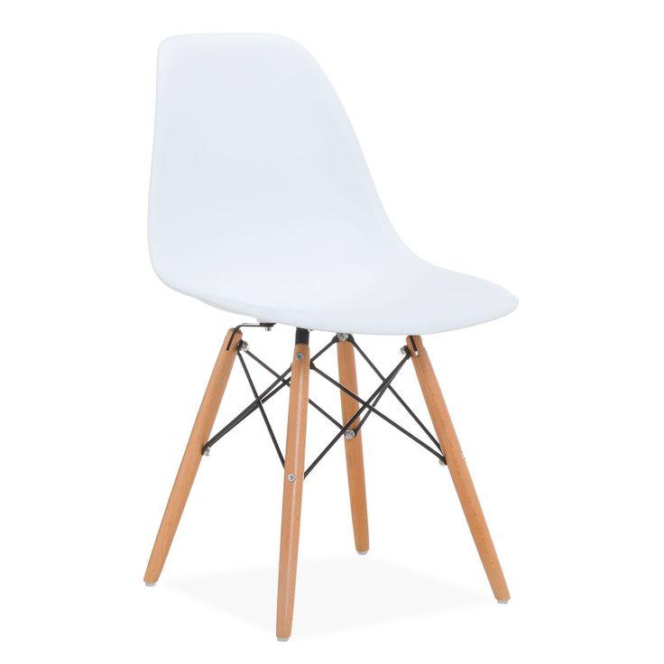 Inspirada na Cadeira DSW de Charles & Ray Eames. A estrutura dos pés das cadeiras WOODEN baseia-se na torre Eiffel. Disponível em 21 cores diferentes. Suporta um peso de 150 kg. Modelo de alta qualidade e acabamentos de primeira. A cadeira WOODEN é um dos modelos mais populares do design de vanguarda do último século. Estilo, elegância e conforto unem-se para dar um ar de frescor e vitalidade a todo o espaço. Você pode jogar até combinar várias cores para um resulta...