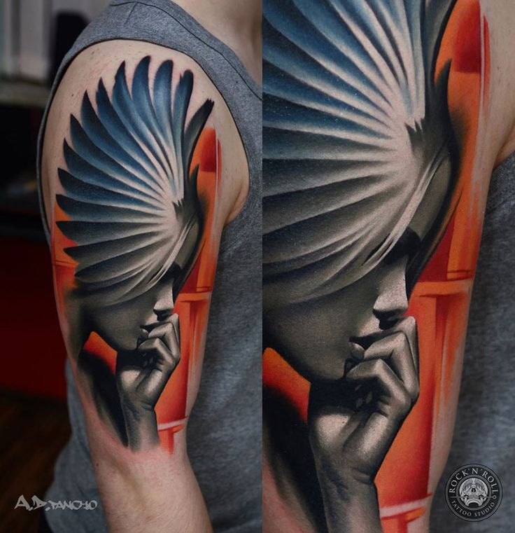 Angel Portrait   Best tattoo design ideas