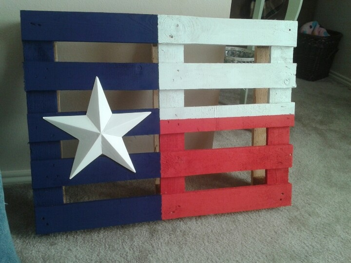Texas flag palate furniture in the raw texas for the for Furniture in the raw