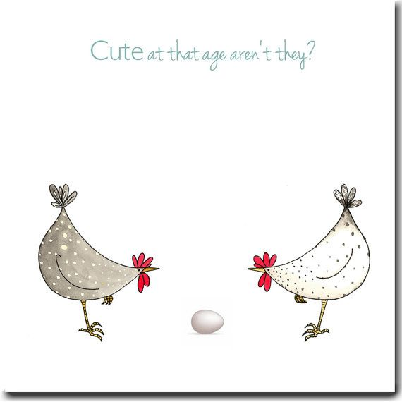 Cute At That Age Greeting Card - New Baby Card, Expecting Card, Blank Inside…