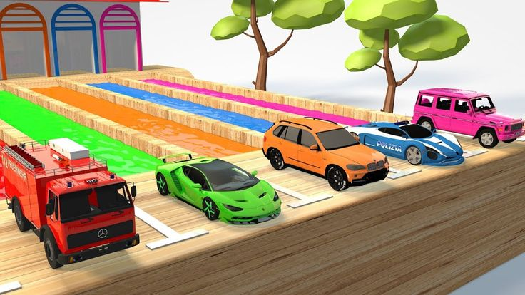 Colors Learn With Street Vehicles Water Tank Trucks for Kids