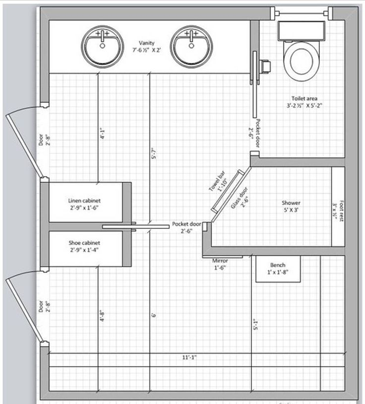 25 best master bedroom floor plans with ensuite images for Master bath and closet plans