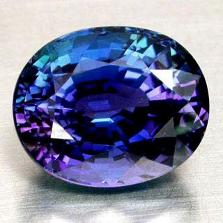 perfect example of tanzanite's range of blue-purple colors!