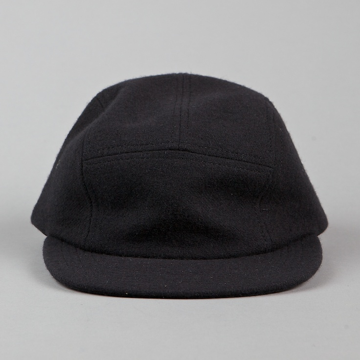 ONLY NY BASIC WOOLRICH 5 PANEL CAP BLACK
