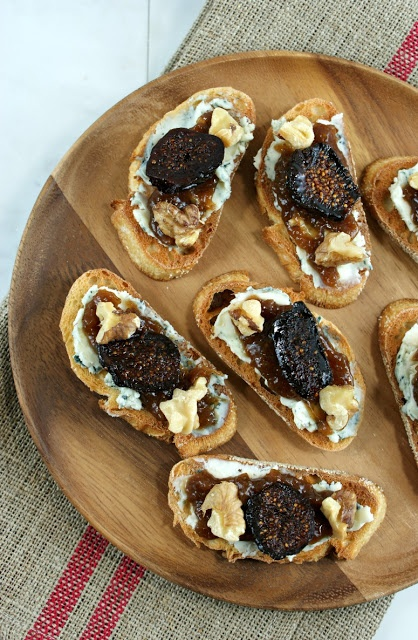 Port Infused Fig Blue Cheese Crostini from @Lisa Phillips-Barton Phillips-Barton | Authentic Suburban Gourmet