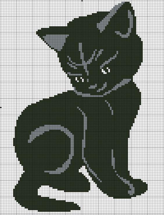 Point de croix chat: