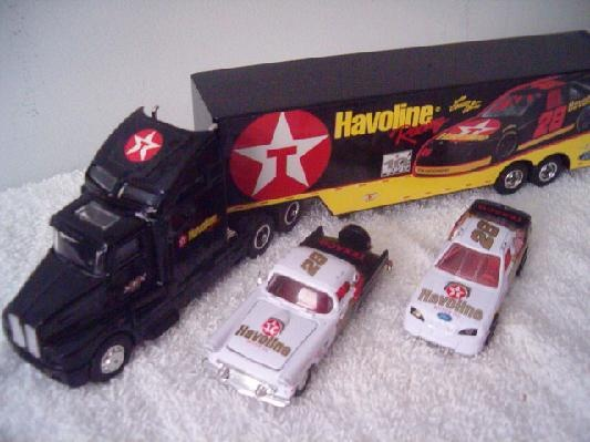 ERNIE IRVAN #28 STOCK CAR AND TRANSPORTER