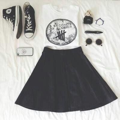 I don't like 5SOS but the outfit is cute! < WHAT WHO DOESNT LIKE 5SOS ?!?!?!?