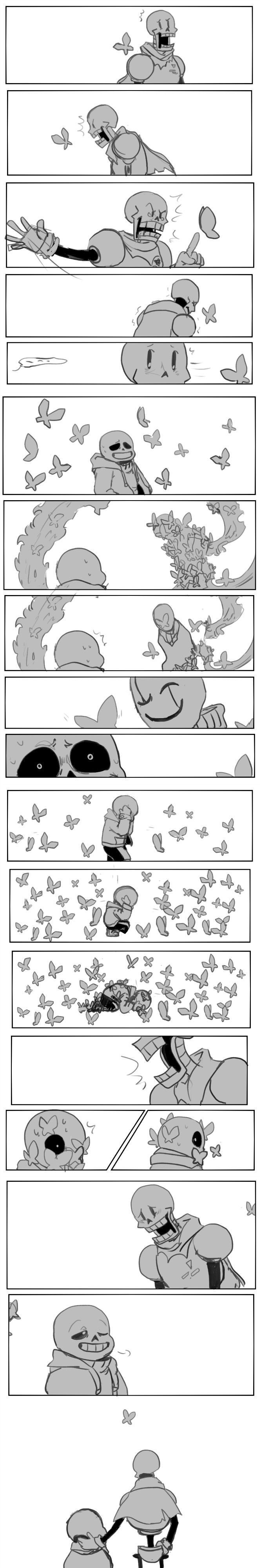 Papyrus, Sans, and Gaster - Steven Universe - Here Comes a Thought #song #parody #comic