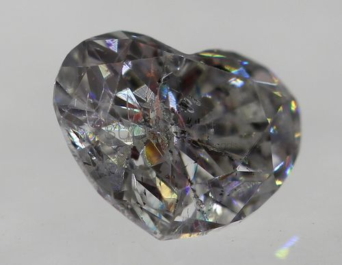 Certified 0.24 Carat F Color SI2 Heart Buy Loose Diamond For Jewelry 4.33x3.6mm