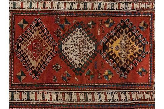 Bordjalou-Kazak Carpet, Georgia, Mid 19th Century Sheep's woolGeorgia, mid 19th century Knot den