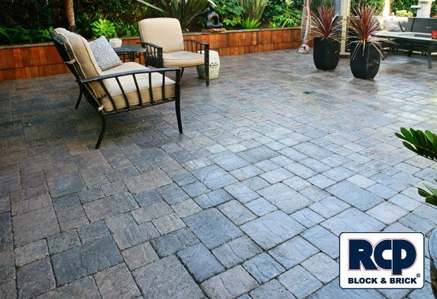 Photo Gallery: Interlocking Paver Idea Gallery Charcoal Brown with Wetlook Sealer