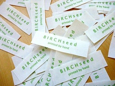 B I R C H s e e d -- printed by hand: tutorial - how to make home made cloth labels for clothes and products