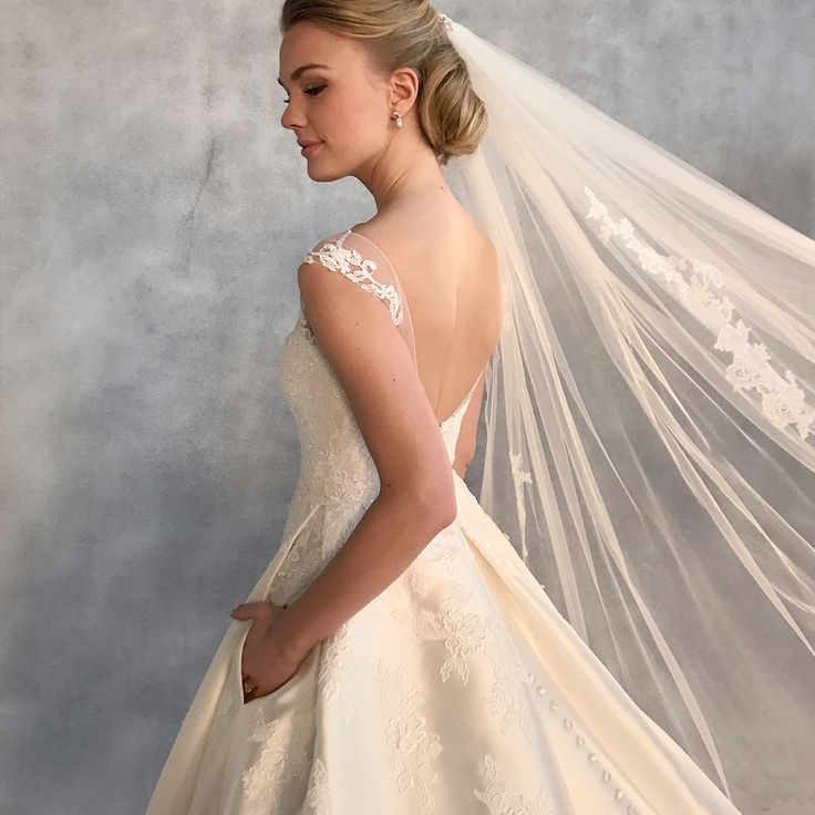 Our dress of the day is the  beautiful new gown 'Charlotte' by Anna Sorrano ✨ Make an entrance in this a-line wedding dress with hidden pockets✨Could this be 'the one' for you? ✨