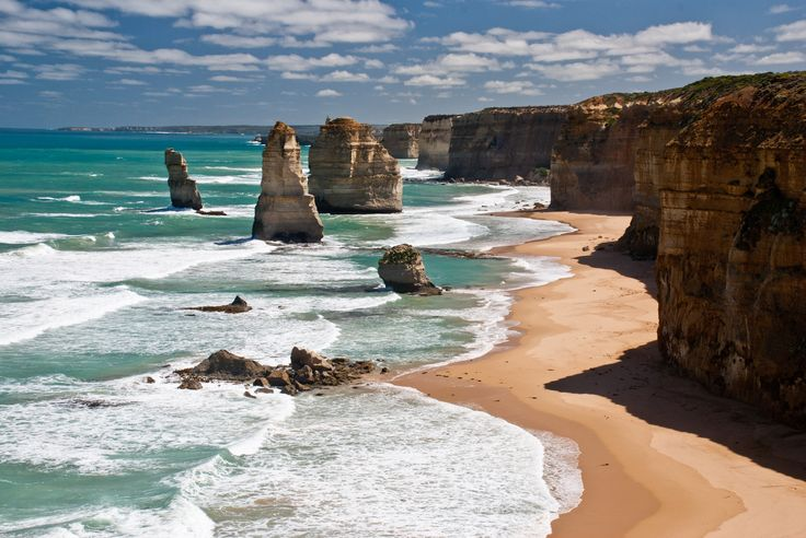 The 12 Apostles limestone formations, which are among Australia's most popular tourist attractions.