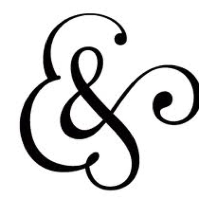 Beautiful ampersands are the best