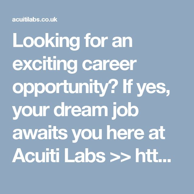 Looking for an exciting career opportunity? If yes, your dream job awaits you here at Acuiti Labs >> http://acuitilabs.co.uk/careers/