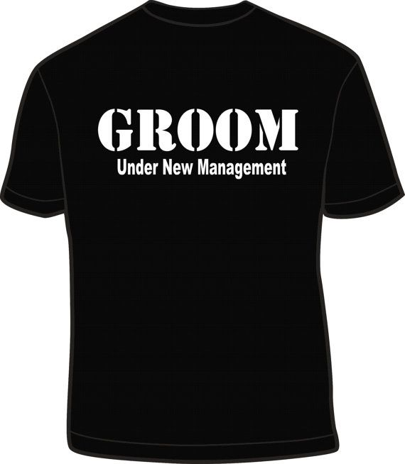 Under New Managment Groom T Shirt Husband Funny by kadensdesigns, $17.00