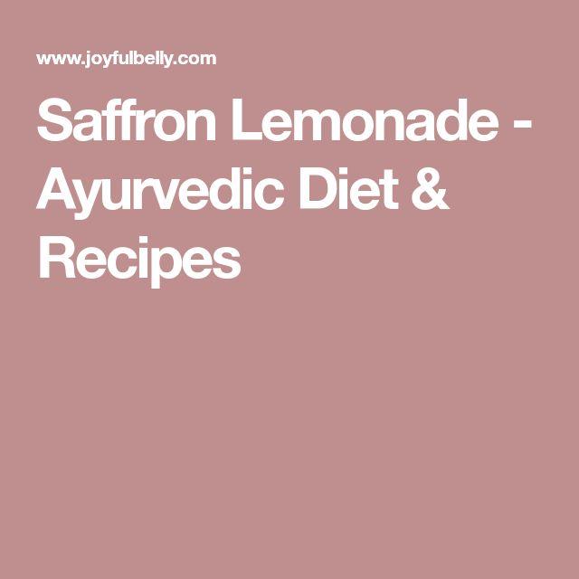 Saffron Lemonade - Ayurvedic Diet & Recipes