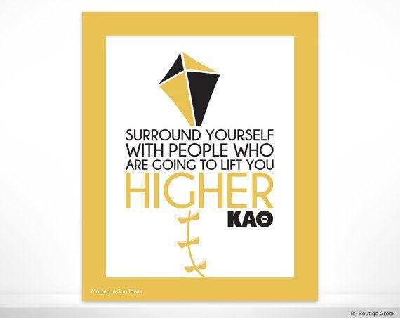 KAO Kappa Alpha Theta Lift You Higher Sorority Poster Wall Print Dorm