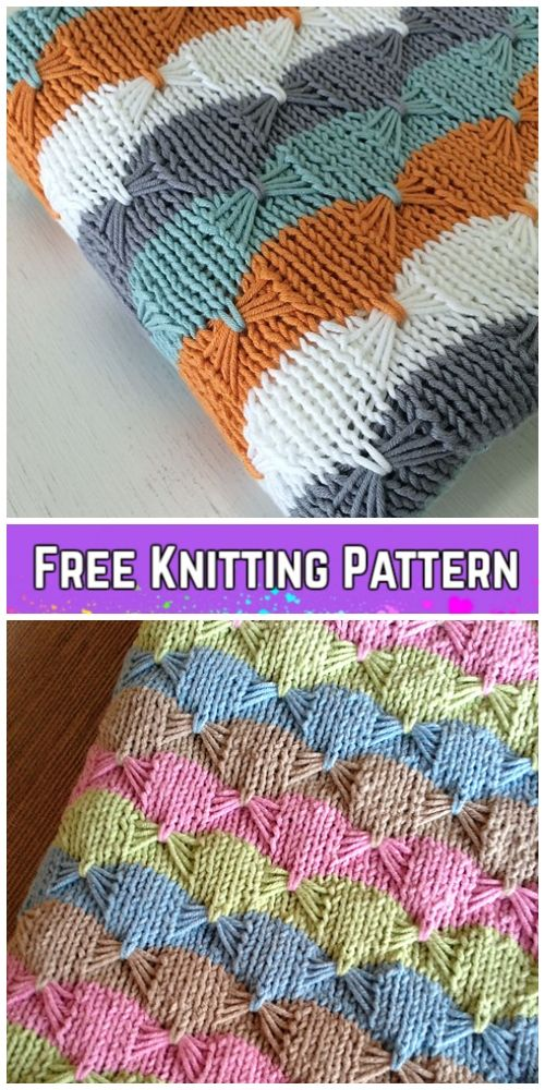 Knit Butterfly Stitch Blanket Padrão De Tricô Livre -Tortas De Bebê Cobertor De ...