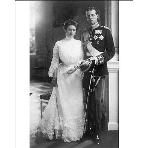 Princess Alice of Battenberg with her husband Prince Andrew of Greece and Denmark.