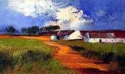 Landscape Oil 22x35cm(F-61x76cm)