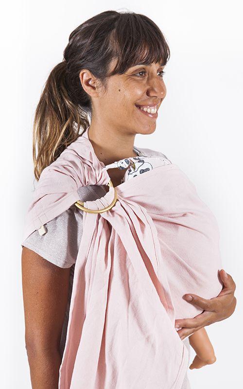 Bandolera de anillas #ENGLISHROSEsling by Littlemiss.es    - fular portabebés, fular elástico, portabebés, baby wrap, wrap, baby carrier, baby sling, porteo, porteo ergonómico, babywearing, bandolera de anillas, ring sling, mei tai, mochila ergonómica, mochila portabebés