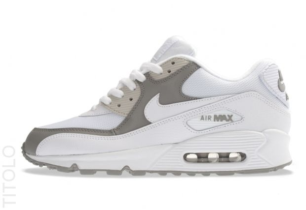 Nike Air Max 90 White/Grey - Gorgeous lines...classic. How do you keep it clean though?