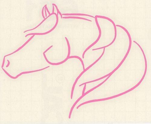 SM Pink Arabian Morgan Horse Pony Equestrian Cowgirl Automotive Decal Sticker | eBay