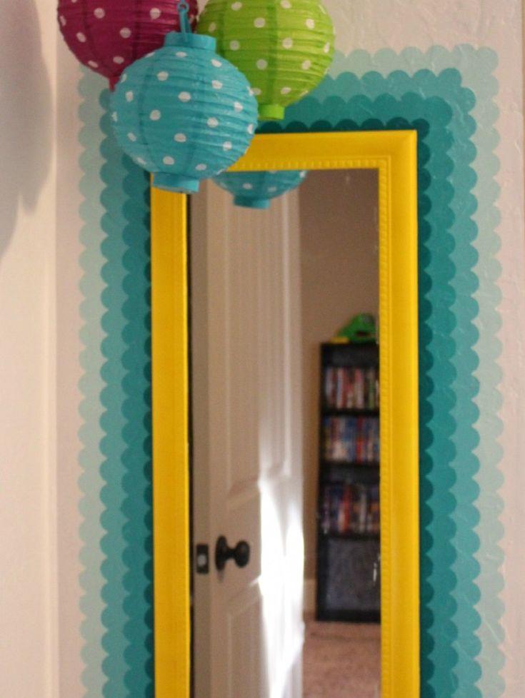 Shape tape mirror