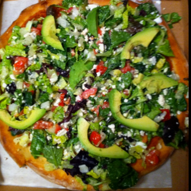 Best salad pizza ever!
