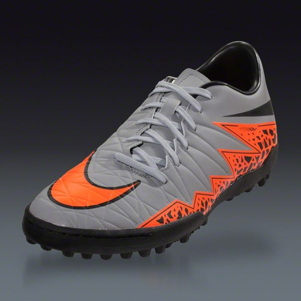 Buy Nike Hypervenom Phelon II TF - Grey/Total Orange - Silver Storm Turf  Soccer Shoes on SOCCER. Shop for all your soccer equipment and apparel  needs.
